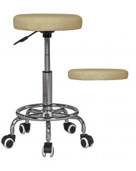 Massage Imperial® Rio - Massage/Therapeutischer Hocker Drehhocker (Cremefarben)