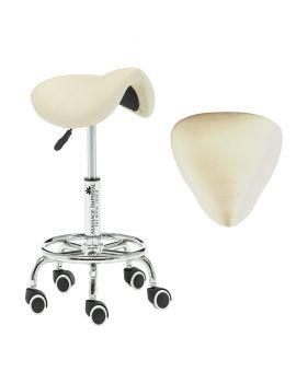 Massage Imperial® iStool - Massage/Therapeut Ergonomischer Sattelhocker (Cremefarben)